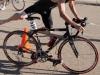 Stephen Salansky mounts the bike