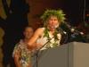 Mirinda Carfrae gives her victory speech