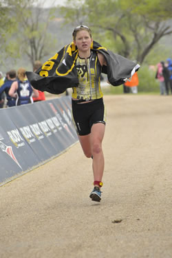 Jessica Broderick leads CU to the team title (Photo by USAT)