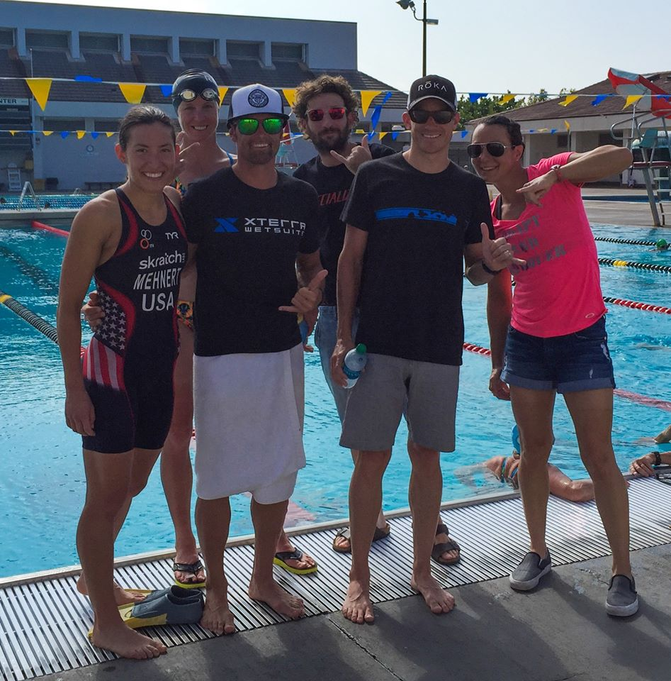Training at the pool in Kona