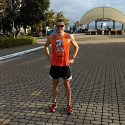 Evoe before an easy training run in Taiwan
