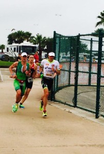 Potts challenges on the 70.3 Texas run course