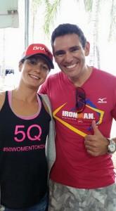 Rachel Joyce doing some promotional work in Brazil for Team Bravo
