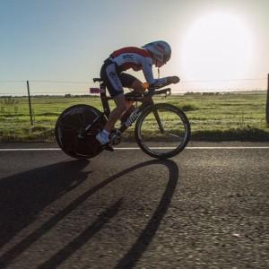 Blatchford on the bike in Busselton (photo: Koruptvision)