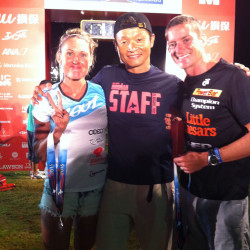 Pat Evoe, Bree Wee and Ironman Japan race director