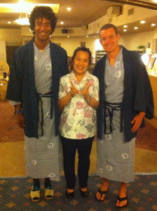 Evoe in a kimono