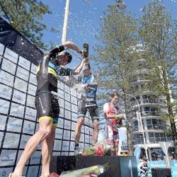 Van Berkel wins 70.3 Sunshine Coast (photo by Ironman Asia-Pacific)