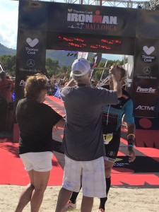 McDonald receives his medal from his parents (photo by E. McDonald)