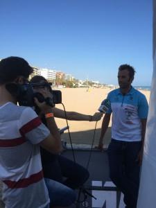McDonald interviews in Spain (photo by E. McDonald)