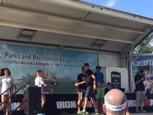 Scott receives his award (photo by R. Carroll)
