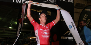 Sam Appleton wins (photo by Ironman.com)