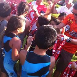 Patrick Evoe with kids in Ixtapa