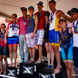 The top five men and women at the XTERRA Beaver Creek Mountain Championship (photo by Adam Hodges)