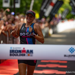 Boulder, Colorado, USA - August 7, 2016: Hawaii's Lectie Altman wins Ironman Boulder in 10:01:09.