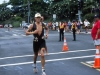 Cameron runs through the streets of Kailua