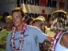 Ironman victor, Tim DeBoom, and wife Nicole cheer on the last finishers at midnight