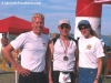 2001 winner Dennis Meeker (left), 2002 winner Craig Greenslit (center), race director Beth Spiegel (right)