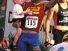 Tim Hola celebrates his finish