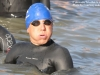 Michael Hagen waits for the swim start