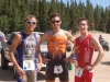 Top three in the men\'s race, from left to right, Dave Messenheimer (3rd), Greg Krause (1st), and Ryan Ignatz (2nd)
