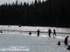 The swim start in Peterson Lake
