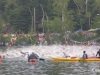 The 2009 Ironman USA gets underway