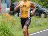 Men\'s winner, Maik Twelsiek, runs to a time of 8:36:37