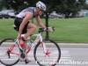 AJ Johnson get to work on the bike leg