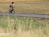 A lone biker