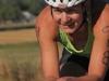 Nicole DeBoom finds her aero position
