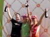 The podium finishers