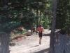 Wayde Jester runs through the trees