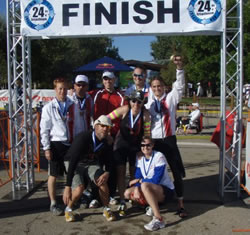 The victorious Team 3xFast at last year's 24 Hours of Triathlon