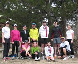 Team 3xFast after their Saturday trail run