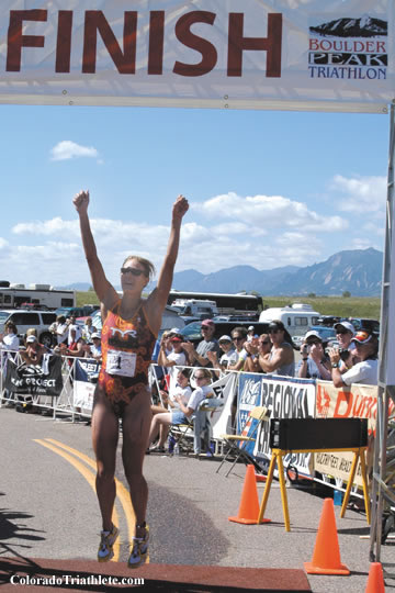 Nicole DeBoom at Boulder Peak 2004