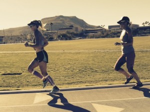 Dede Greisbauer runs a track session in Tucson