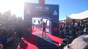 Judie Swallow wins Ironman South African Championship (photo by Ironman.com)