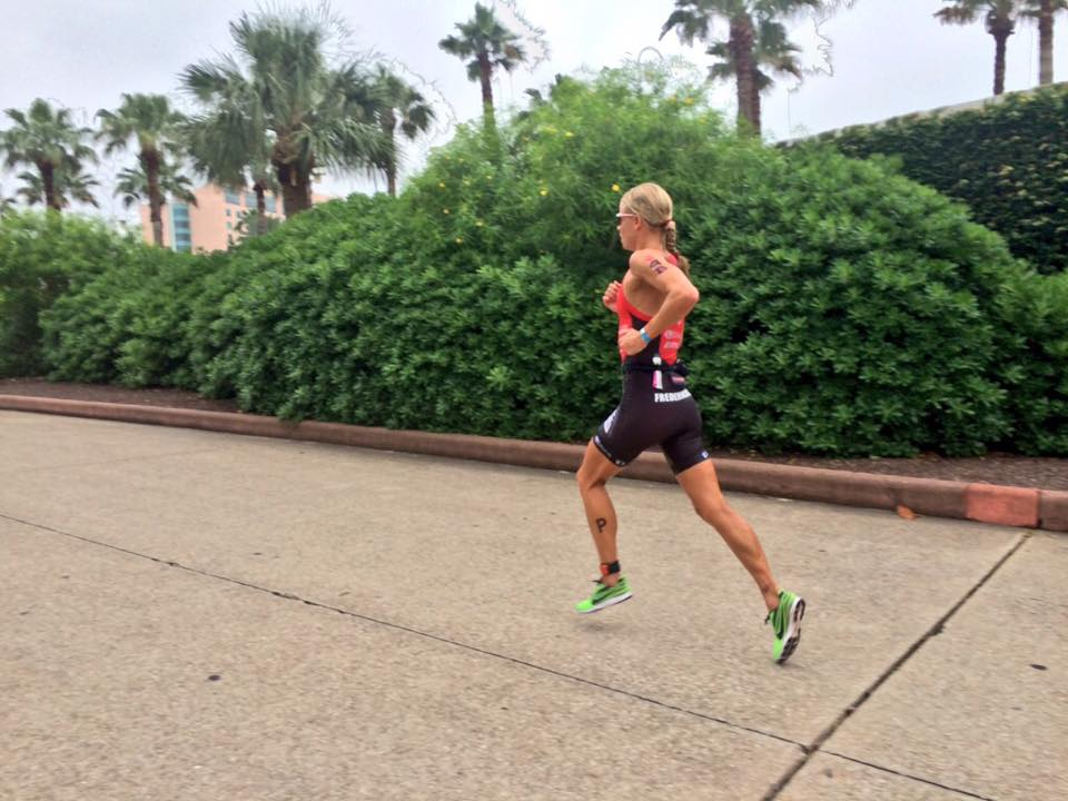 Helle Frederiksen leads the run in Texas