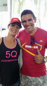 Rachel Joyce doing some promotional work in Brazil for Team Bravo