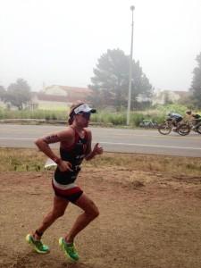 Lauren Goss in second on the run (Photo: Twitter)