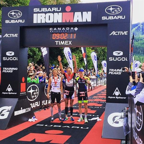 Ironman Canada top three