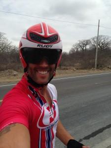 Hadley in pre-race ride in Ecuador