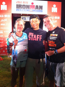 Pat Evoe, Bree Wee and Ironman Japan race director