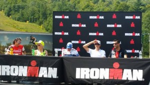 Ironman 70.3 Timberman pro panel (photo by B. Lovett)