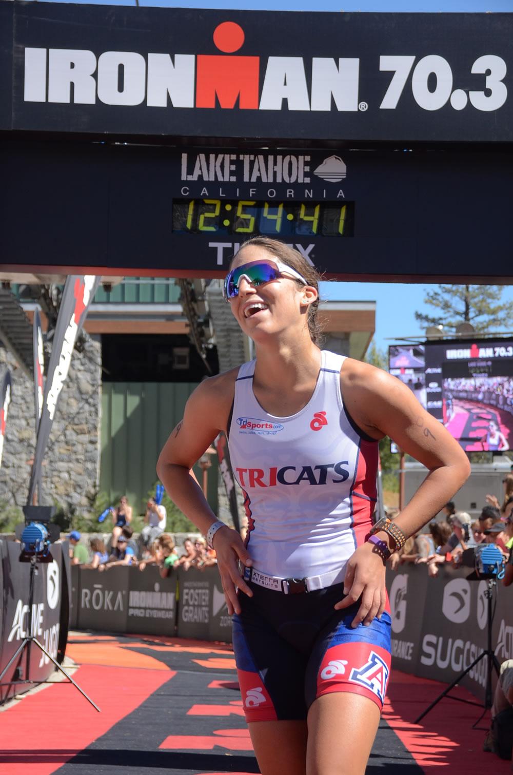 Erica Clevenger wins Ironman 70.3 Lake Tahoe
