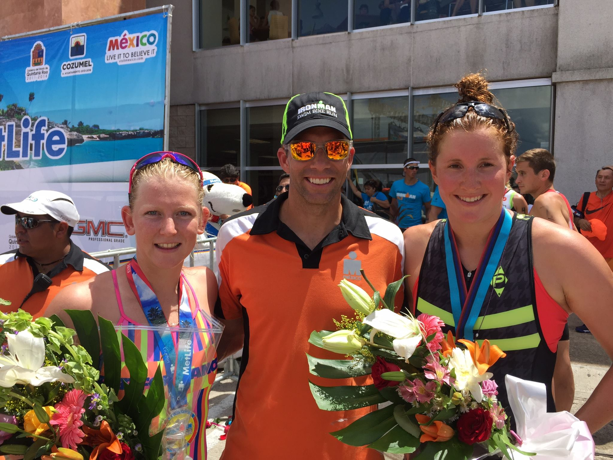 Seymour, Lovato and Stotts at Ironman 70.3 Cozumel (photo by Lovato Performance)