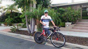 Leon Griffin will compete in 70.3 Cozumel (photo by L. Griffin)