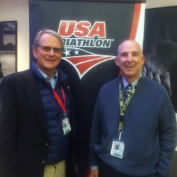 Founding Ironman Medical Director Dr. Bob Laird and current director Paul Berlin
