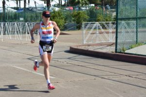 Jeannie Seymour runs to second at Ironman 70.3 Texas (R. Bailey)