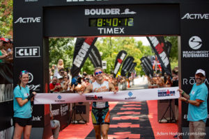 Clay Emge claimed his second straight Ironman Boulder title in a winning time of 8:39:59.
